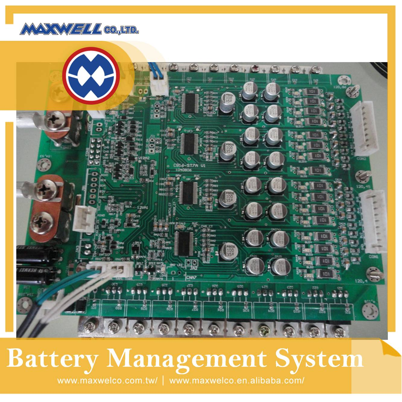 16S / 48V / 100A  LiFePO4 battery BMS (Battery Management System) with high power