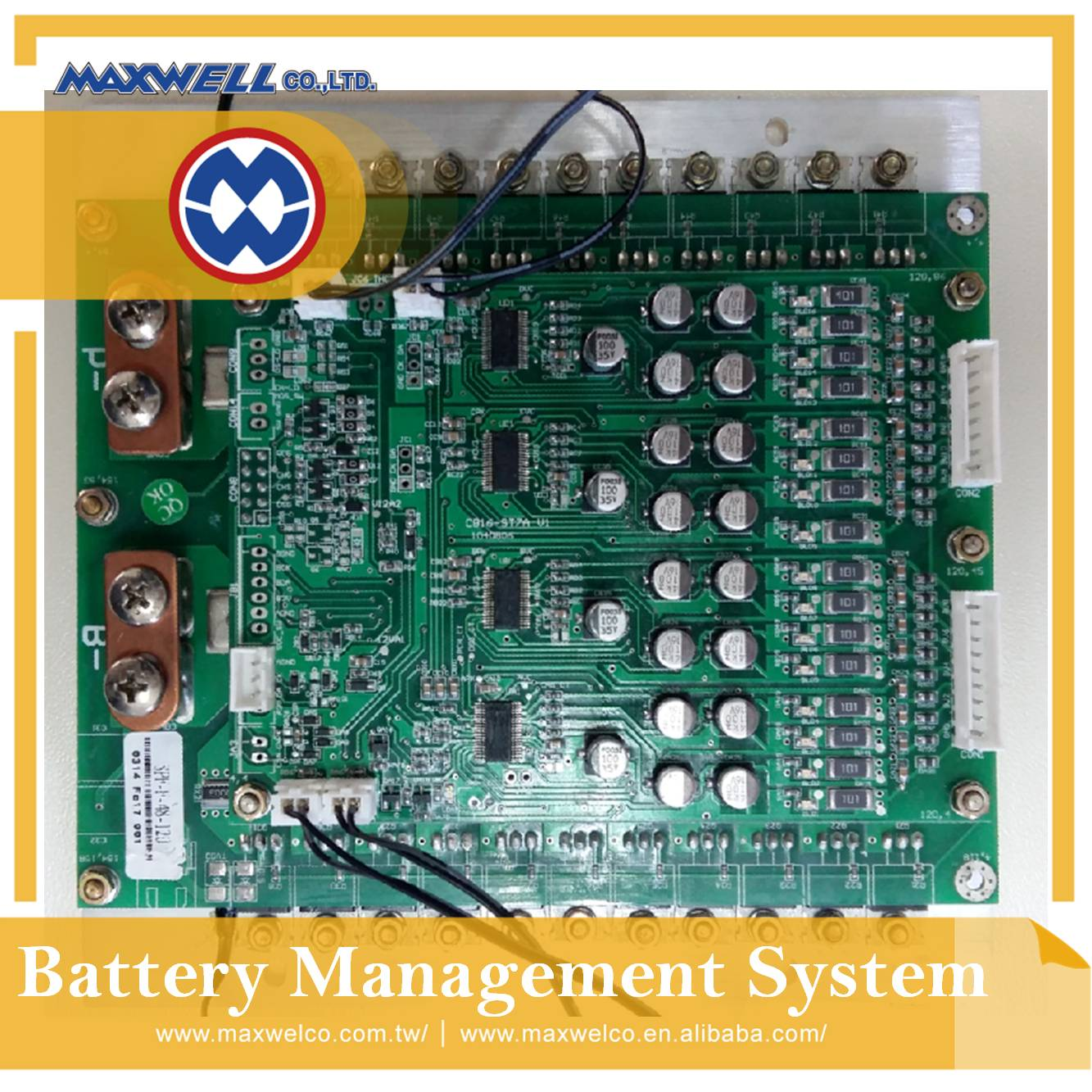 15S / 48V / 100A LiFePO4 battery BMS with high power